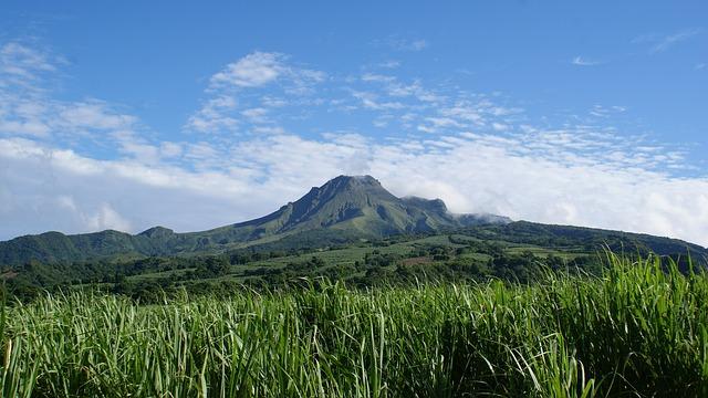 Mont pelee volcan